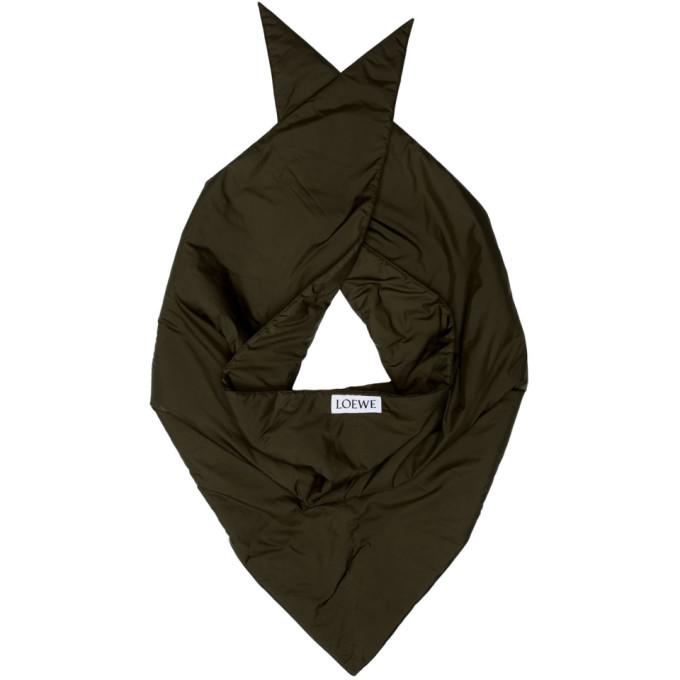 Loewe Foulard rembourre vert Triangle