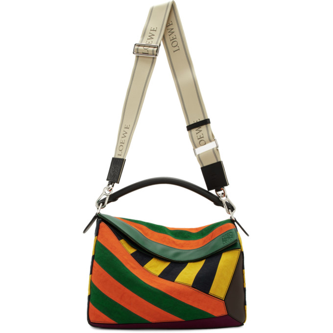 Loewe Sac multicolore Large Puzzle Rugby