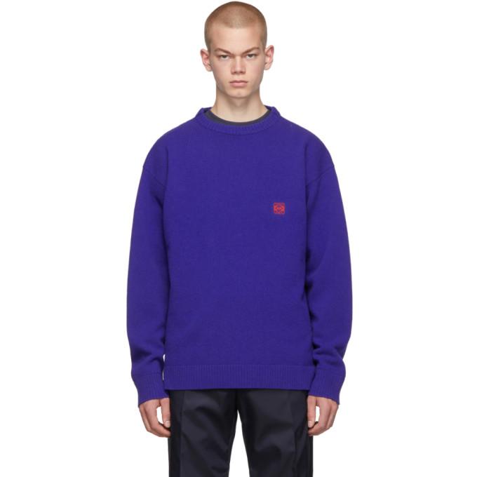 Loewe ブルー アナグラム セーター