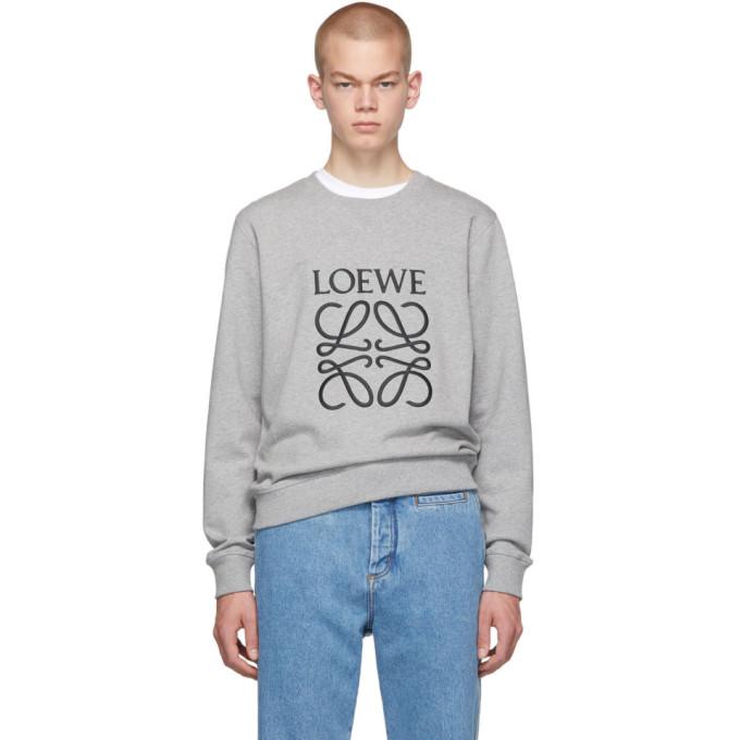 Loewe Grey Embroidered Anagram Sweatshirt
