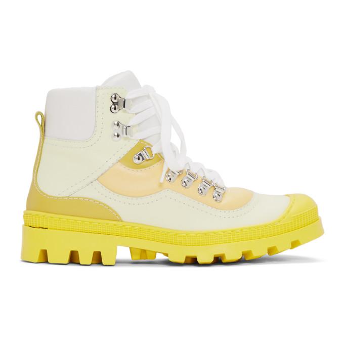 Loewe Yellow Hiking Boots