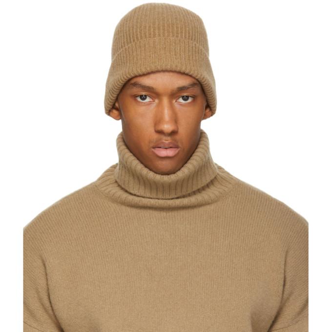 Harmony Bonnet en angora et laine brun clair