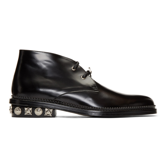 Toga Virilis Black Polished Desert Boots