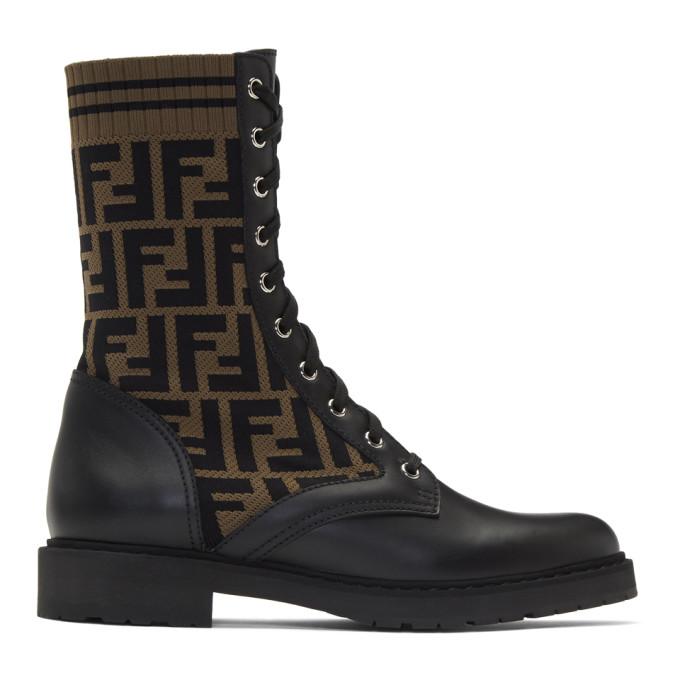 Fendi Black Forever Fendi Combat Boots