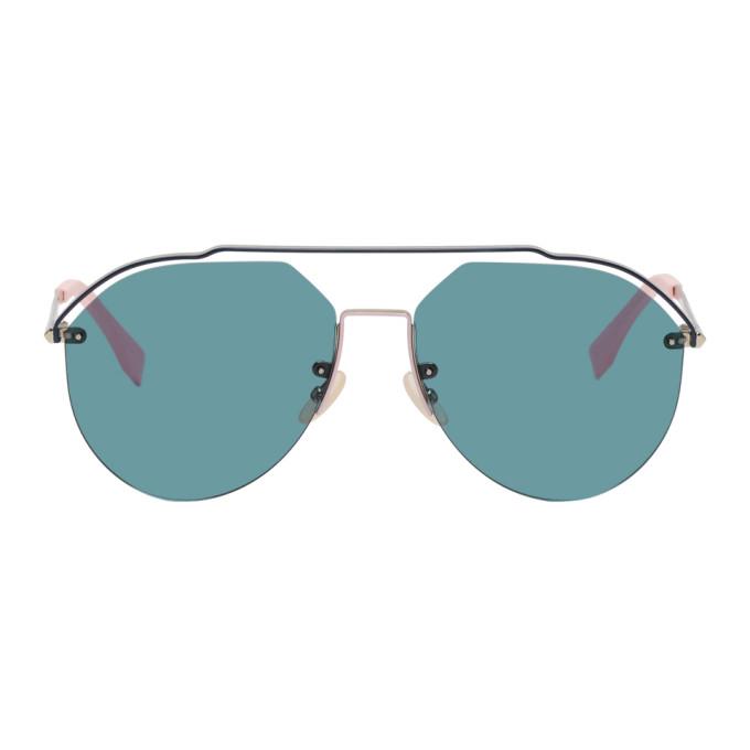 Fendi Silver and Blue FF M0031/S Sunglasses