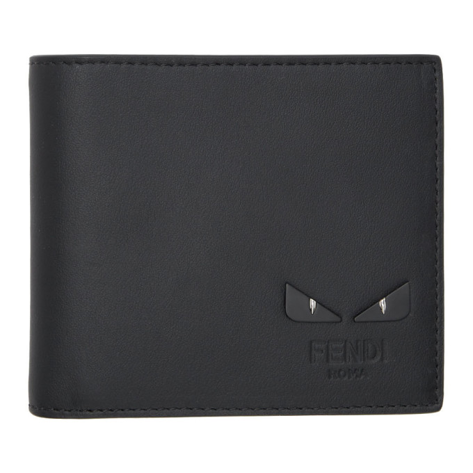 FENDI | Fendi Black Bag Bugs Bifold Wallet | Goxip