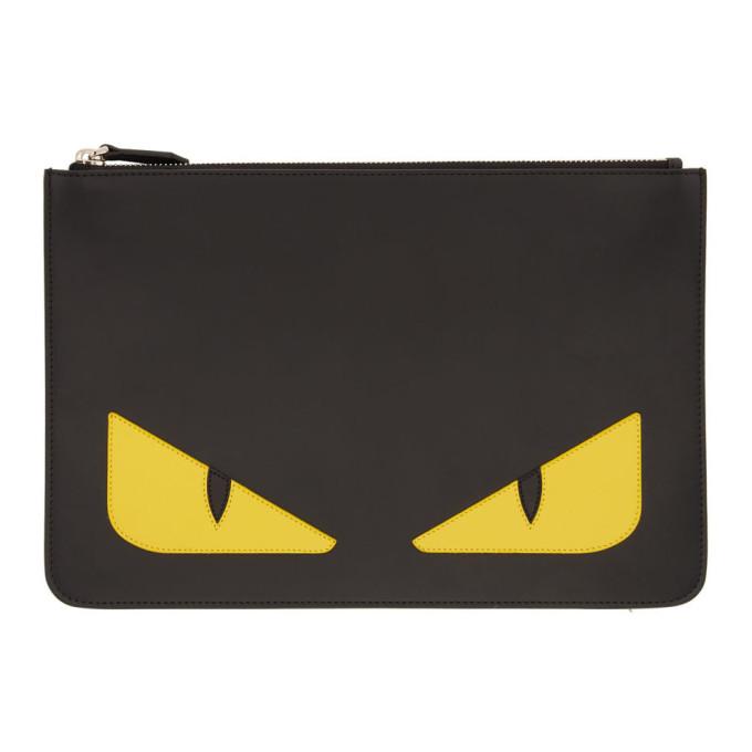 Fendi 0 FENDI BLACK BAG BUGS POUCH