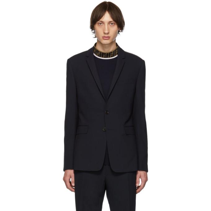 Fendi Navy Wool FF Blazer