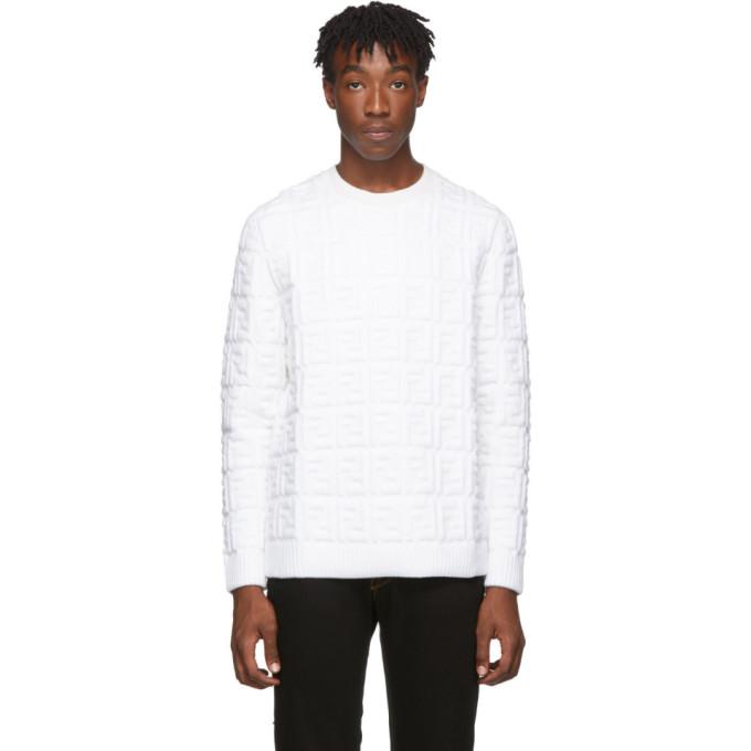 Fendi ホワイト ウール Forever Fendi セーター