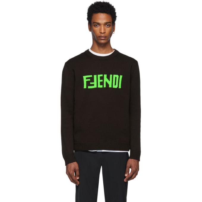 FENDI   Fendi Brown F Fendi Sweater   Goxip