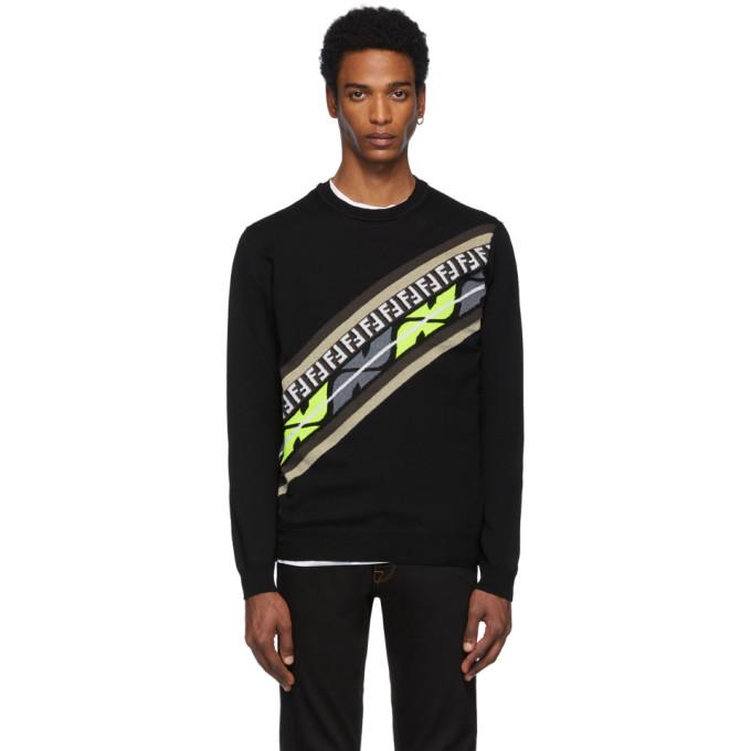 FENDI | Fendi Black Cashmere Forever Fendi Sweatshirt | Goxip
