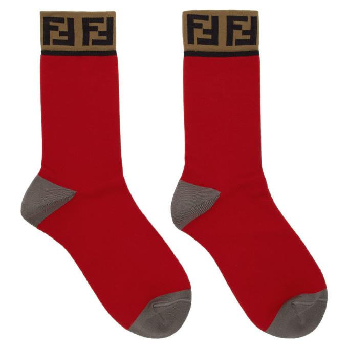 Fendi Red Forever Fendi Socks