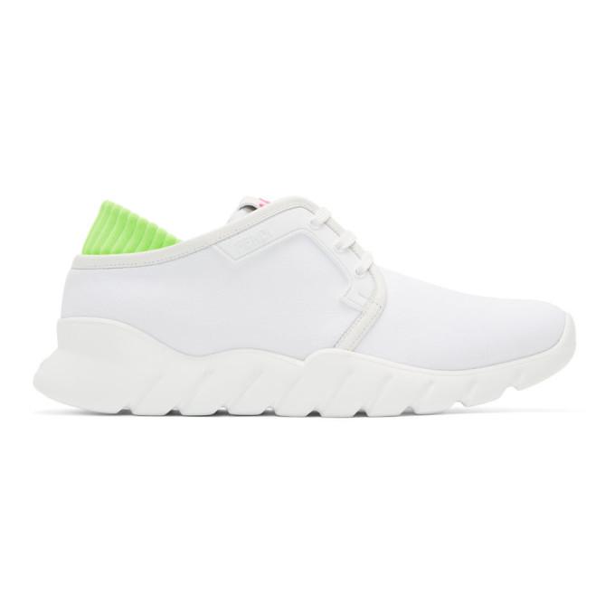 FENDI | Fendi White Tech Sneakers | Goxip