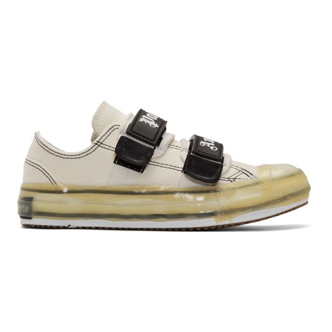Palm Angels Baskets blanches Velcro Vulcanized