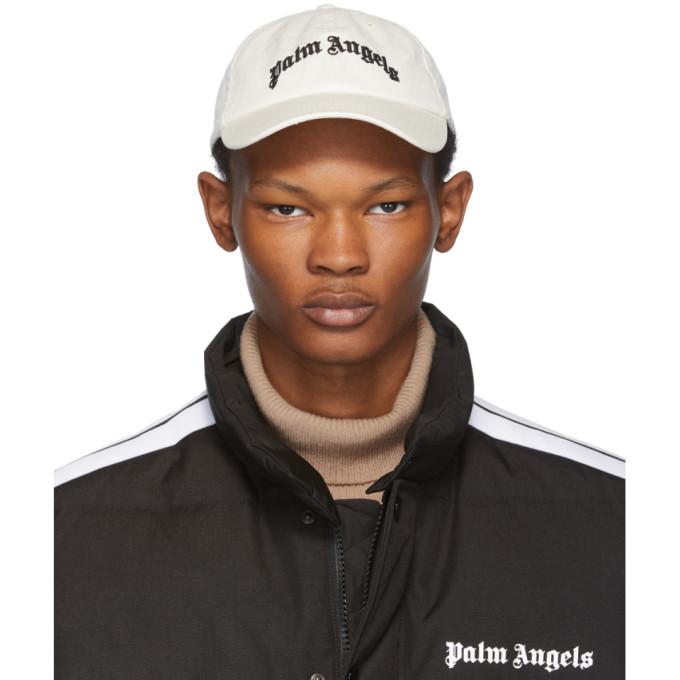 Palm Angels Casquette blanc casse Arch Logo
