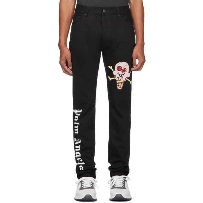 Palm Angels Black ICECREAM Edition Jeans