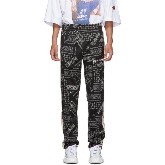 Palm Angels Pantalon de survetement noir Bandana Classic