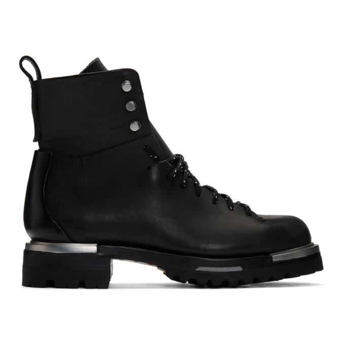 Feit Black Metal Military Hiker Boots