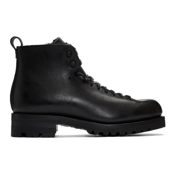 Feit Black Shearling Hiker Boots