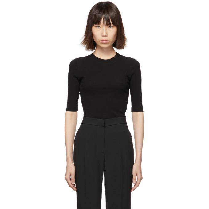 Rosetta Getty T-shirt noir Cropped