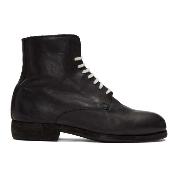 Guidi Black Vintage Ball Boots