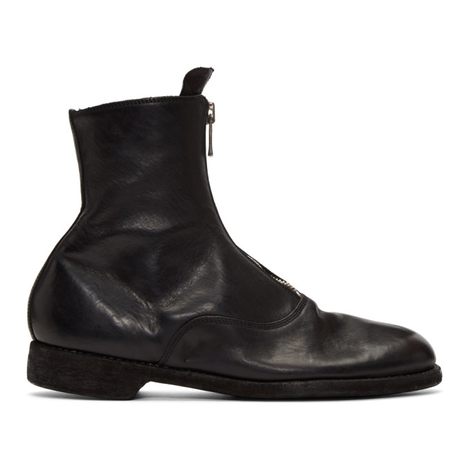Guidi Black Soldato Boots