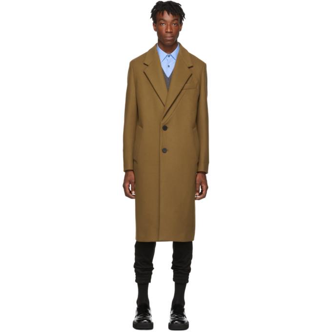 Wooyoungmi Manteau en laine brun clair