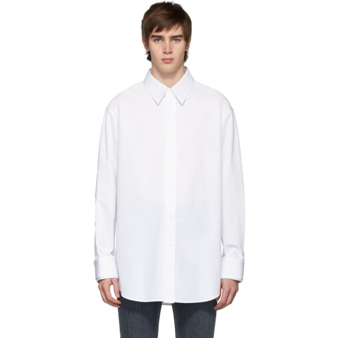 Wooyoungmi Chemise blanche Button Detail Sleeves