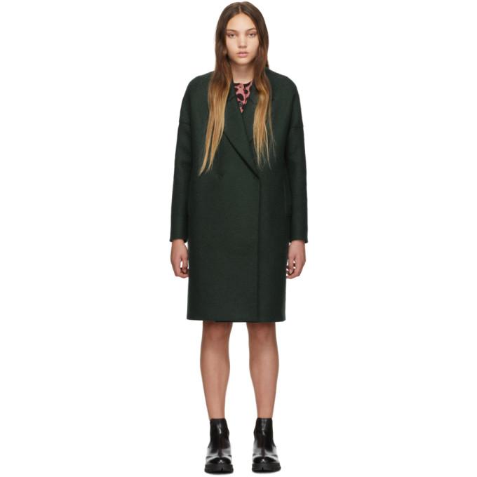 Harris Wharf London Manteau surdimensionne vert Fitted