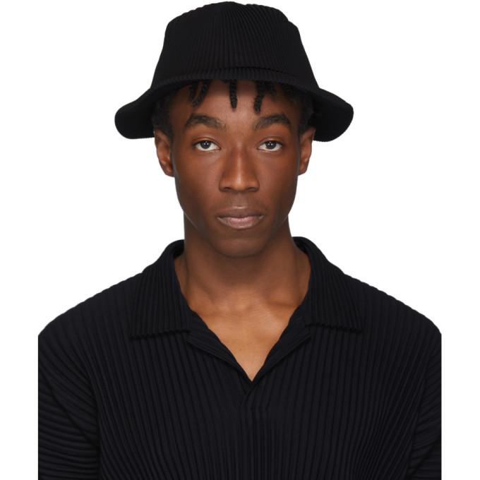Homme Plisse Issey Miyake Chapeau plisse noir
