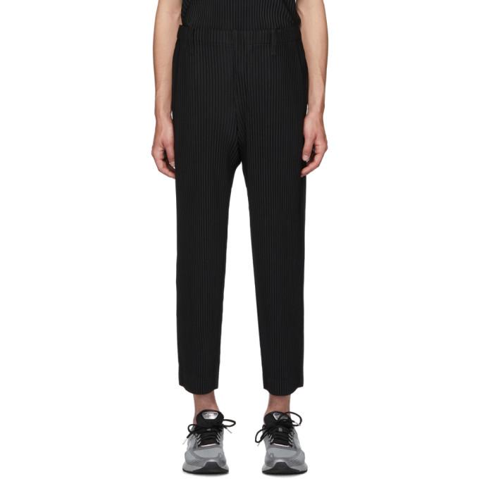 Homme Plisse Issey Miyake Black Basics Trousers