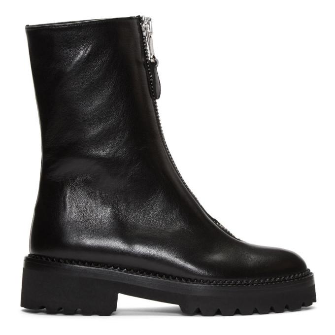 Ys Black Zip Boots