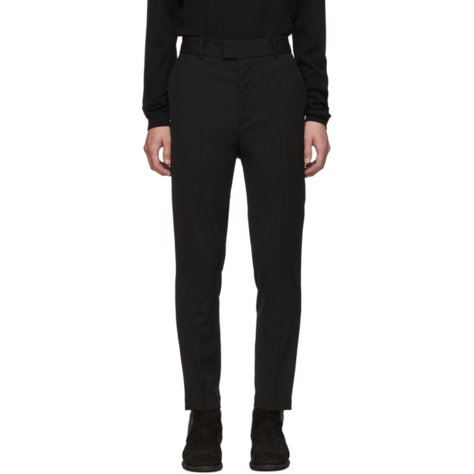 Isabel Benenato Pantalon noir Satin Stripe