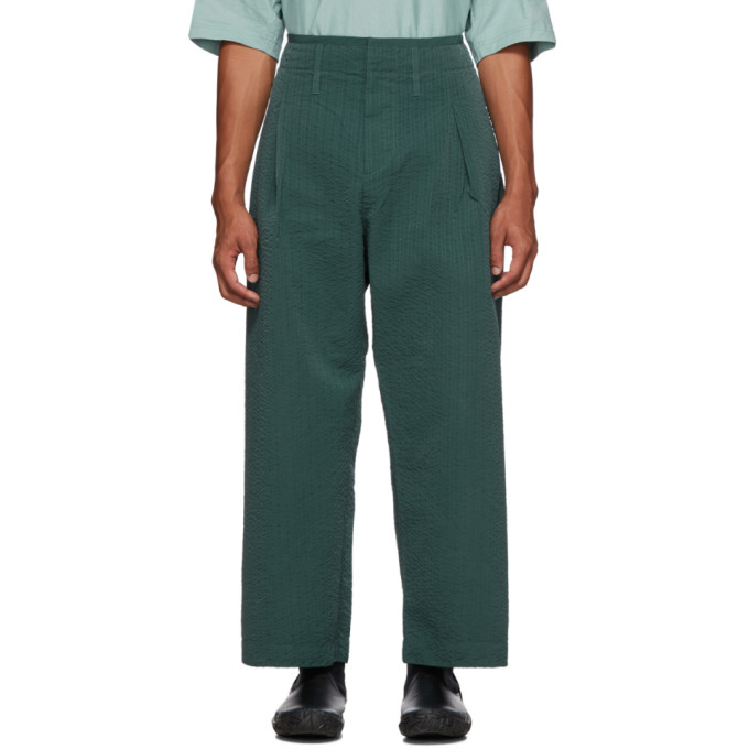 Craig Green Pantalon vert Line Stitch Worker