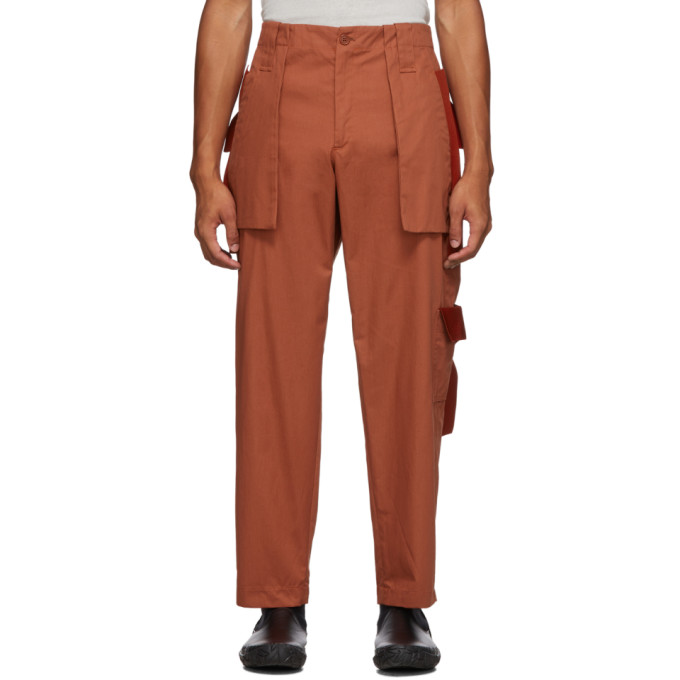 Craig Green Pantalon orange Utility Rib