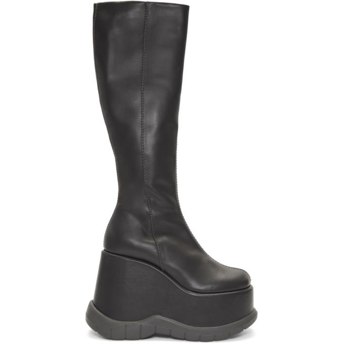 Sunnei Grey Platform Boots