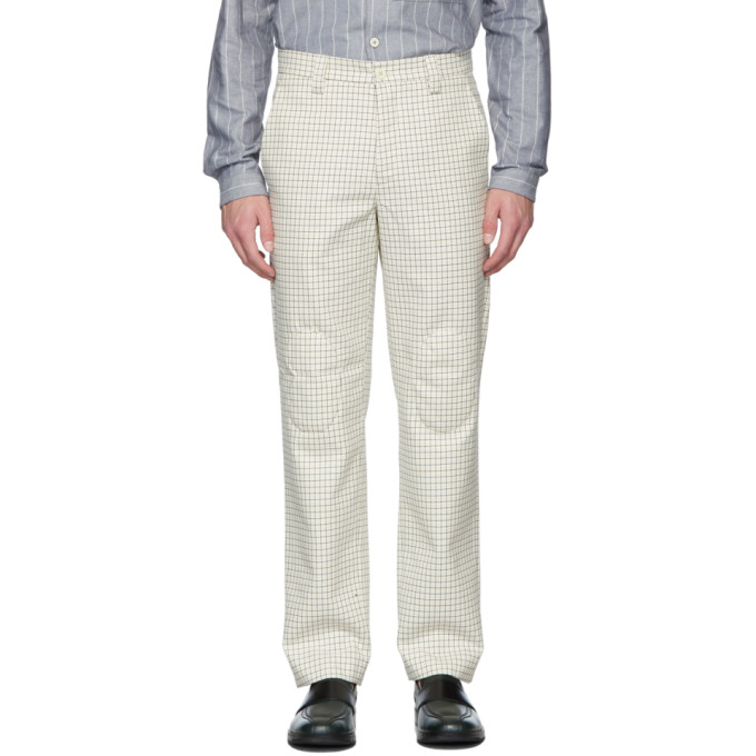 Sunnei Pants SUNNEI BEIGE PATCHES STRAIGHT TROUSERS