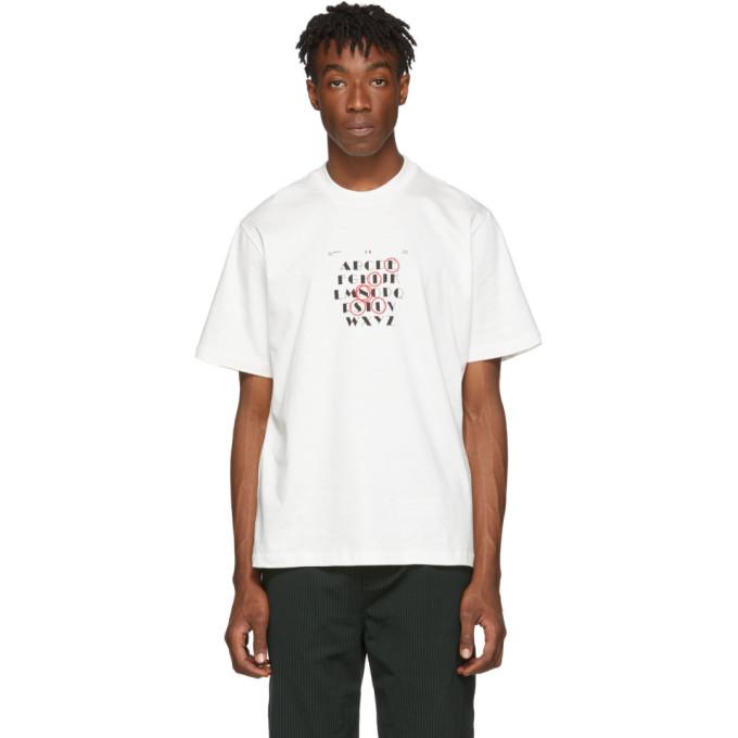 Sunnei T-shirt blanc Logo Alphabet
