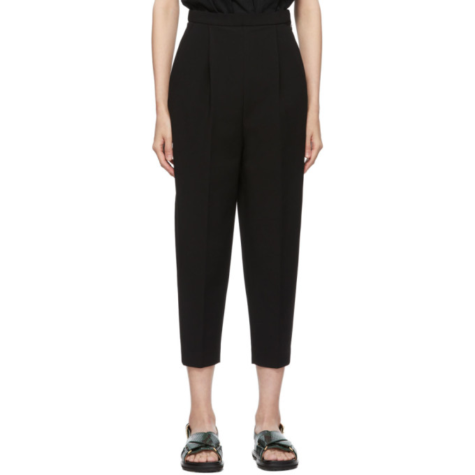 Enfold Pantalon noir Double Cloth