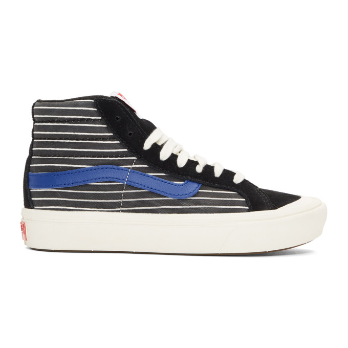 Vans Black and White Comfycush Style 138 LX High Top Sneakers