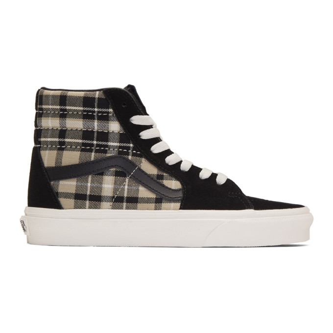 Vans Black Plaid Mix Sk8-Hi Sneakers