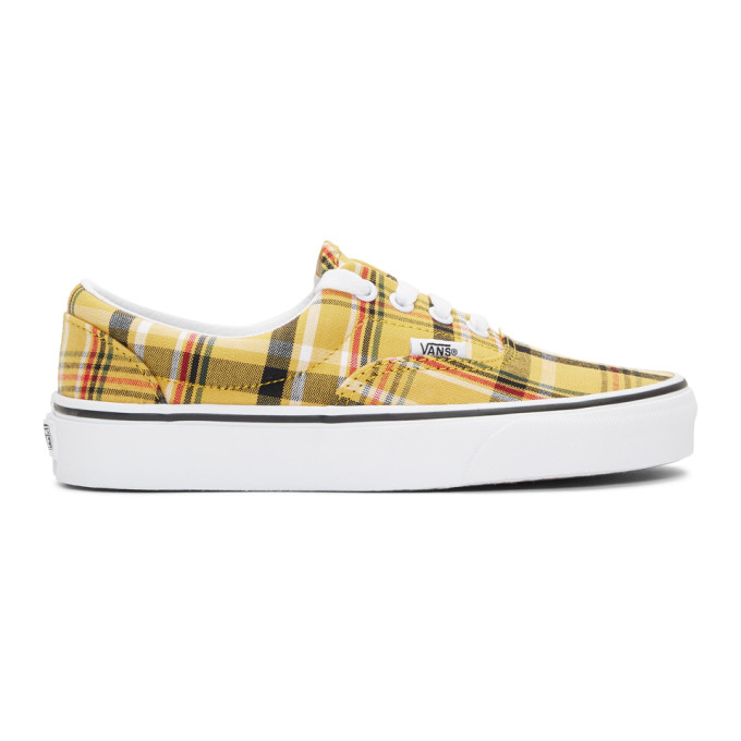 Vans Yellow Plaid Era Sneakers