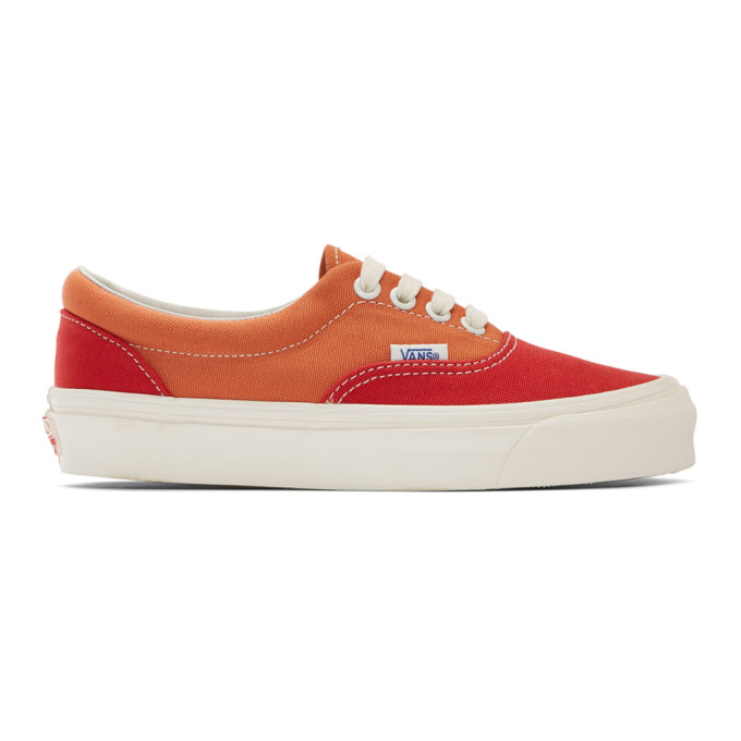 Vans Red and Orange OG Era LX Sneakers