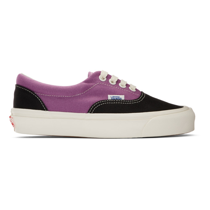 Vans Black and Purple OG Era LX Sneakers