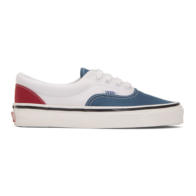 Vans White and Blue Anaheim Factory Era 95 DX Sneakers