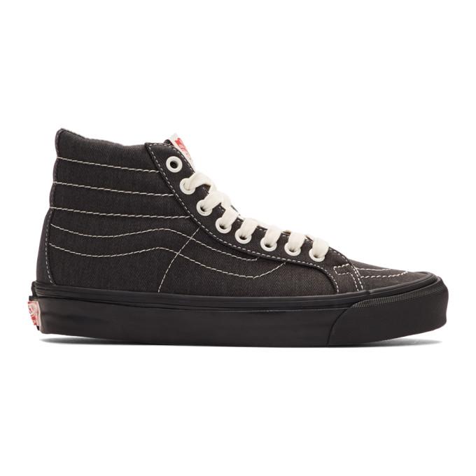 Vans Black Herringbone OG Sk8-Hi Sneakers