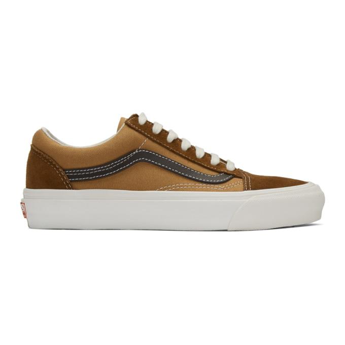 Vans Brown OG Old Skool LX Sneakers