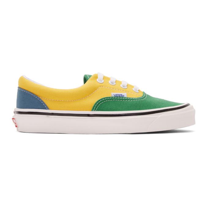Vans Green and Yellow Anaheim Factory Era 95 DX Sneakers