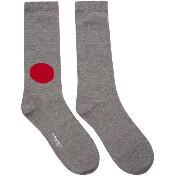 Blue Blue Japan Chaussettes grises Japan Flag