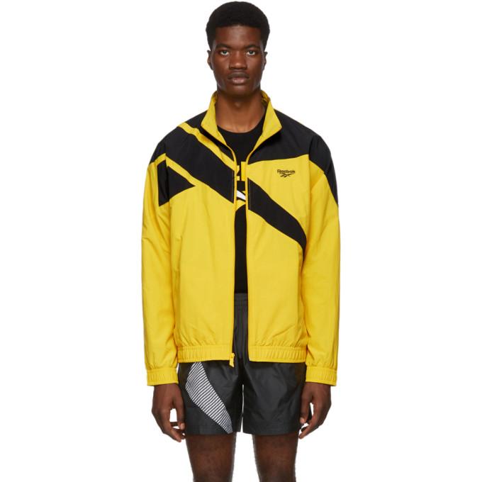 Reebok Classics Yellow and Black Vector Track Jacket
